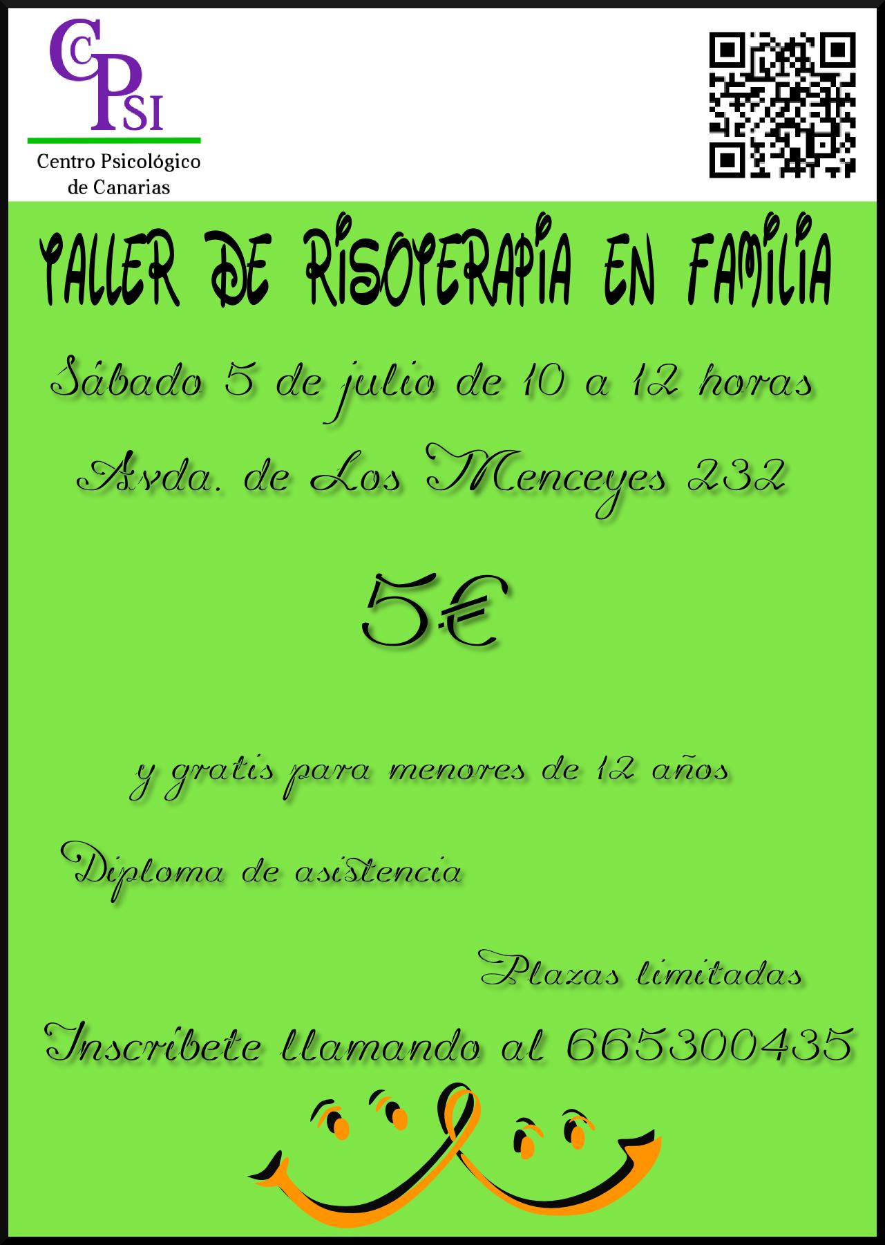 Cartel para Taller de Risoterapia en Familia (05/07/2014)