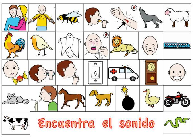 Las Onomatopeyas En Logopedia Juego De Encuentra El Sonido