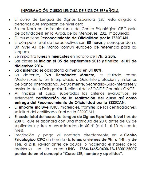 información LSE I